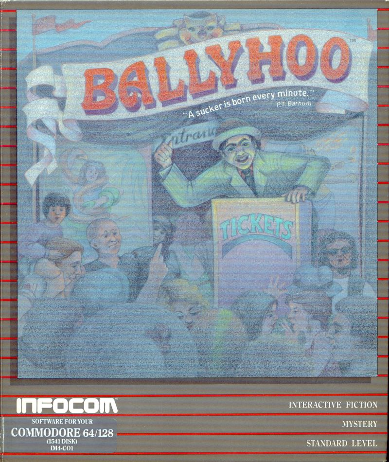 Ballyhoo Commodore 64 Front Cover