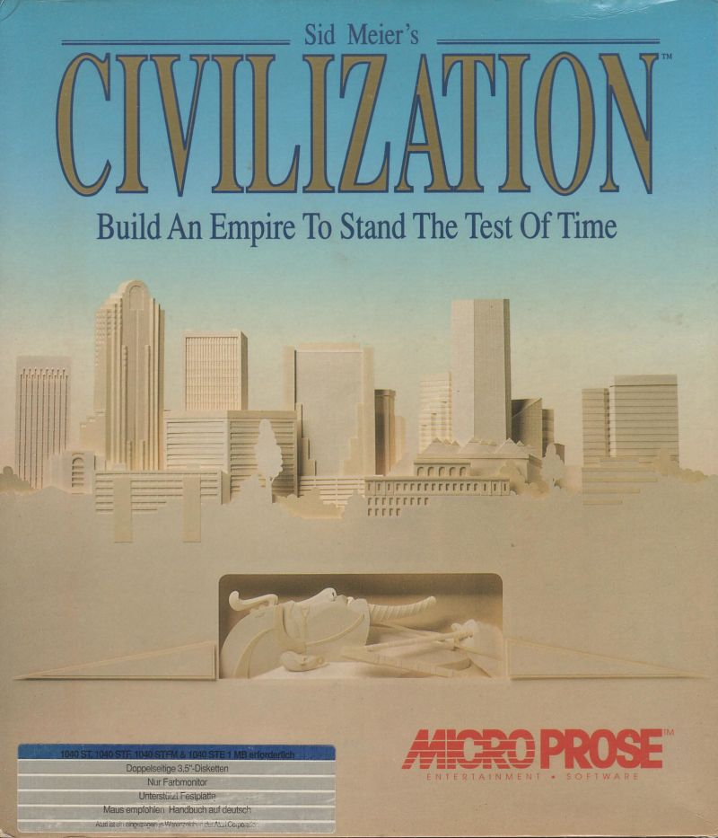 Sid Meier's Civilization Atari ST Front Cover