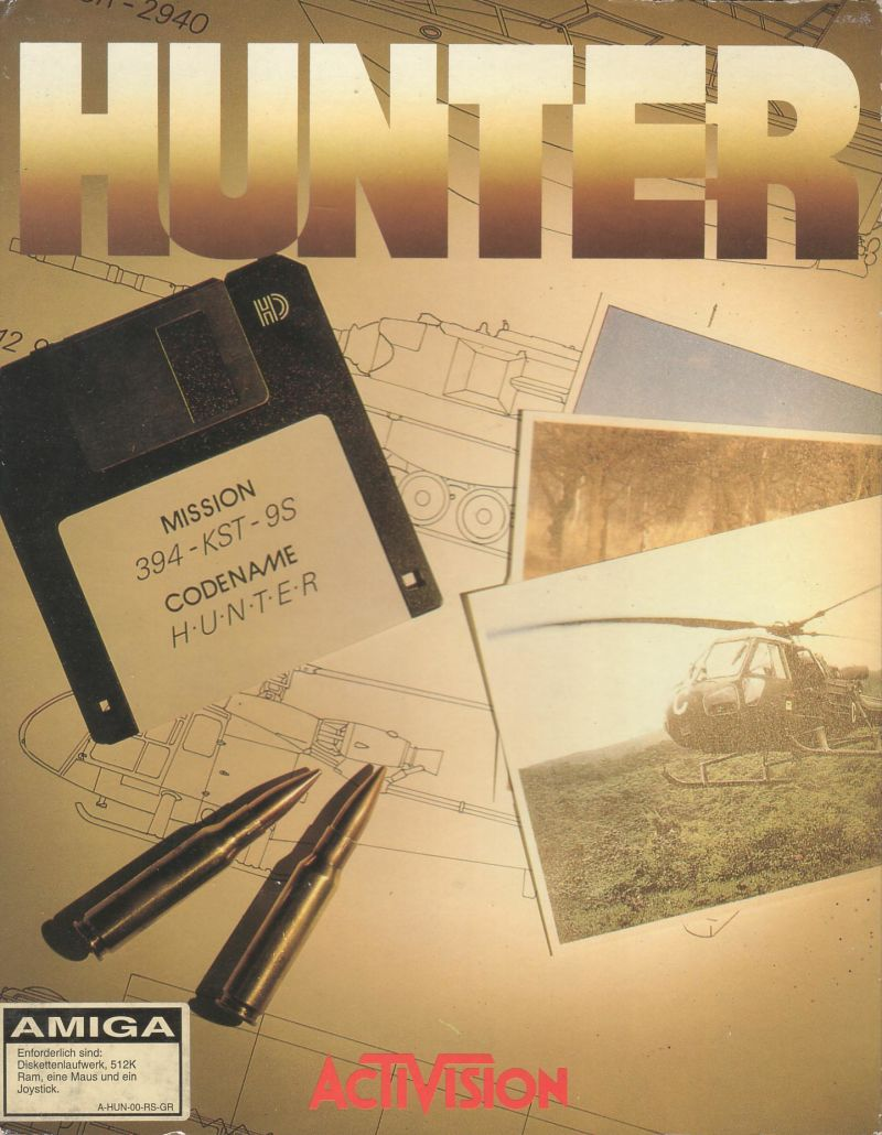 Hunter Amiga Front Cover