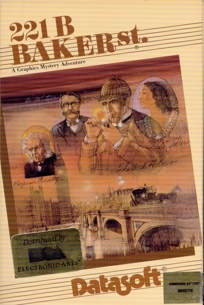221 B Baker St. Commodore 64 Front Cover