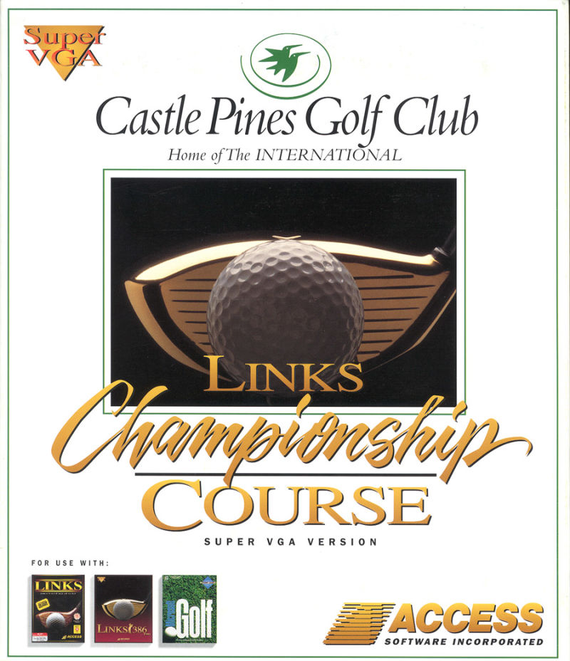 Links: Championship Course - Castle Pines Golf Club DOS Front Cover