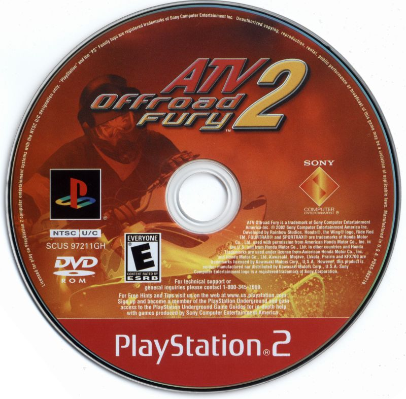 ATV Offroad Fury 2 PlayStation 2 Media