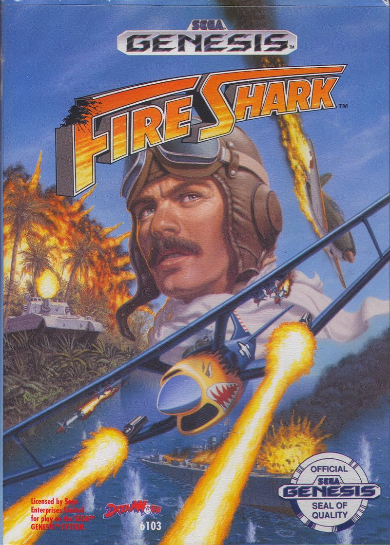 Fire Shark Genesis Front Cover