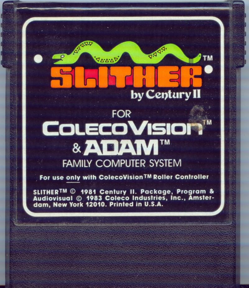 Slither ColecoVision Media