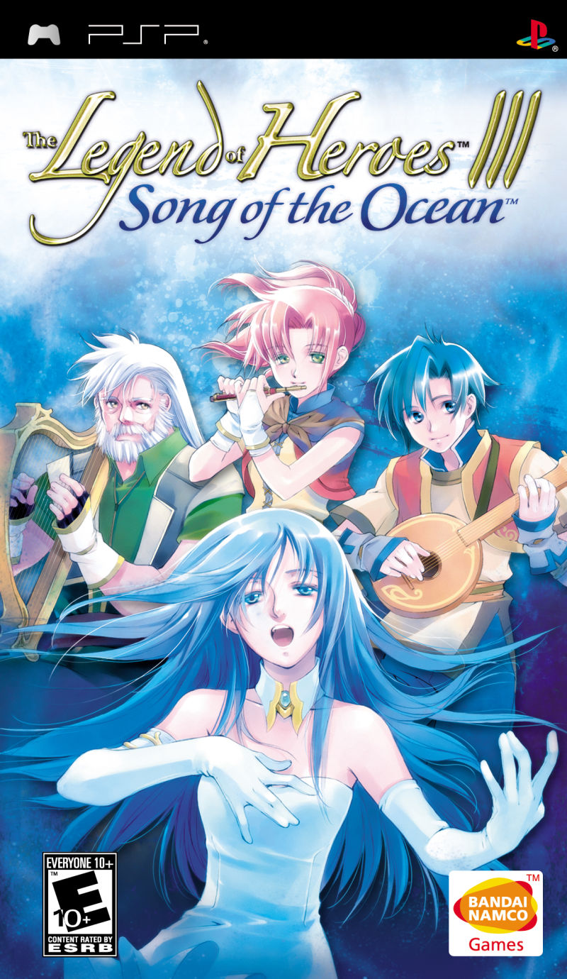 The Legend of Heroes III: Song of the Ocean PSP Front Cover