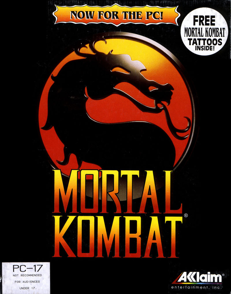 Mortal Kombat DOS Front Cover