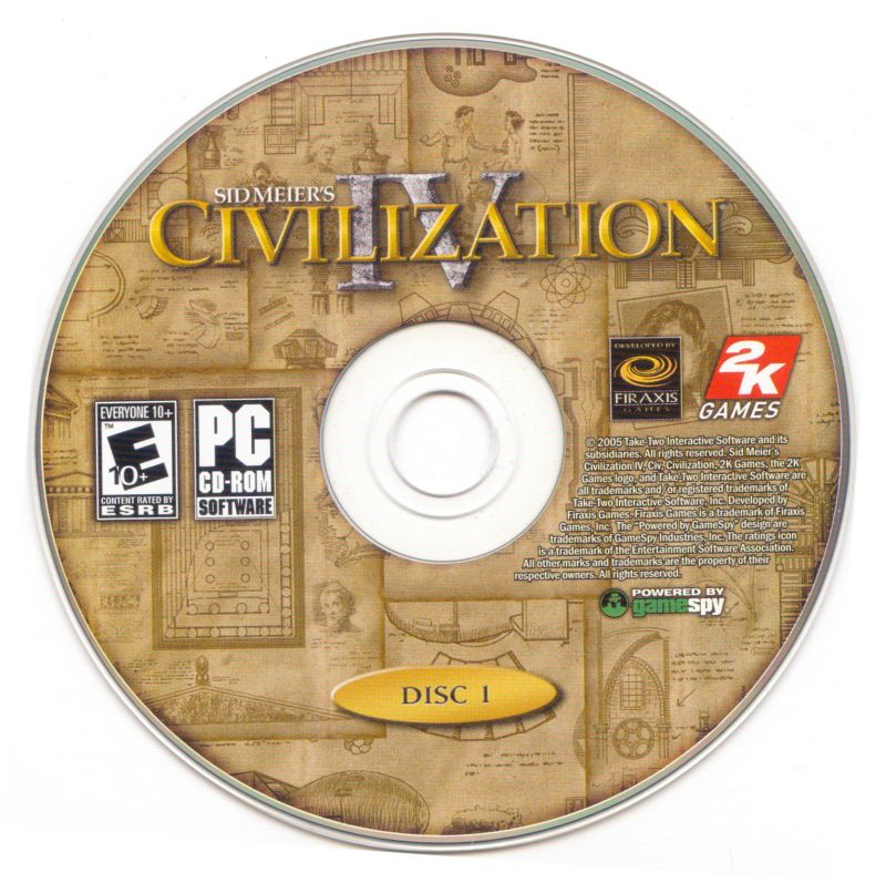 Sid Meier's Civilization IV Windows Media Disc 1/2