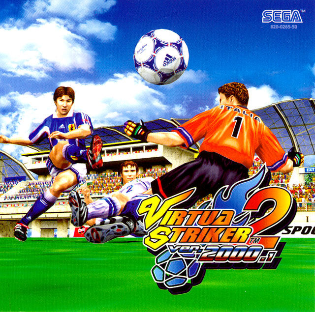 Virtua Striker 2 ver. 2000.1 Dreamcast Front Cover