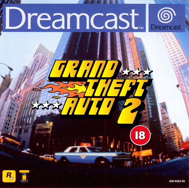 Grand Theft Auto 2 Dreamcast Front Cover
