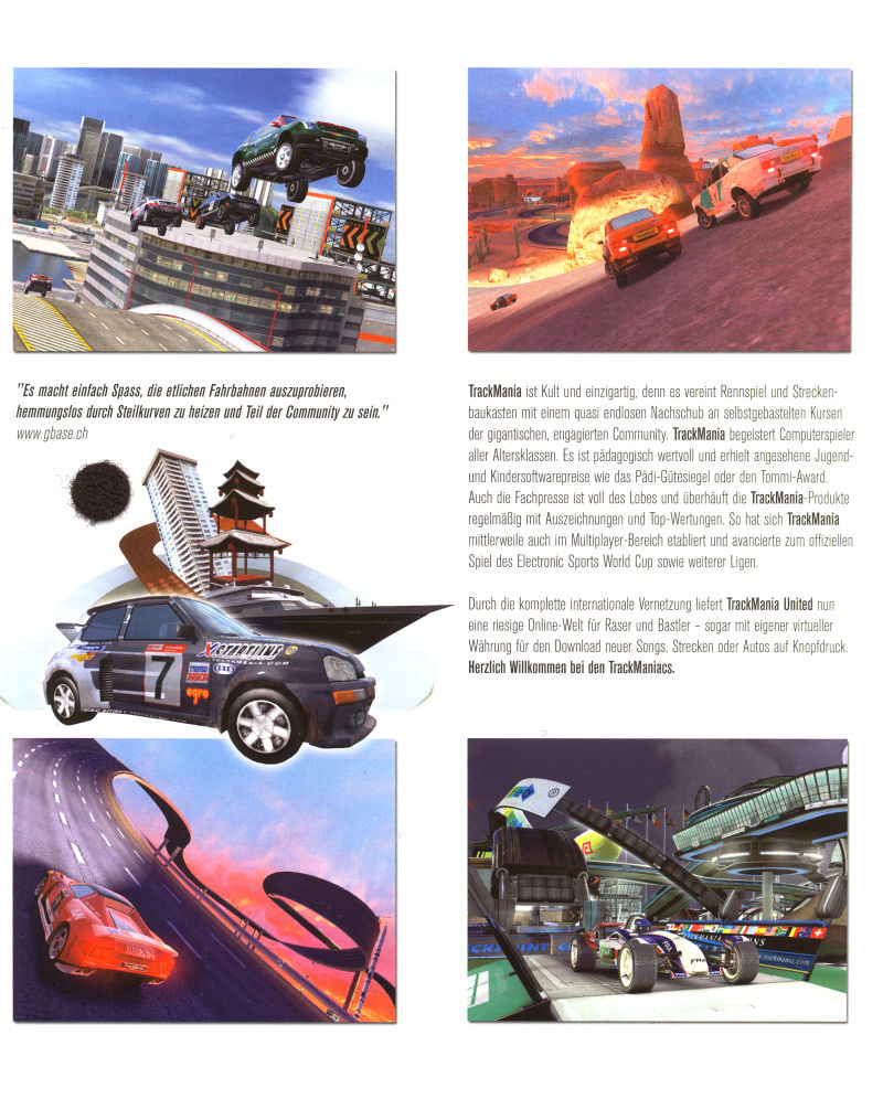 TrackMania United (Limited First Edition) Windows Inside Cover Left Flap