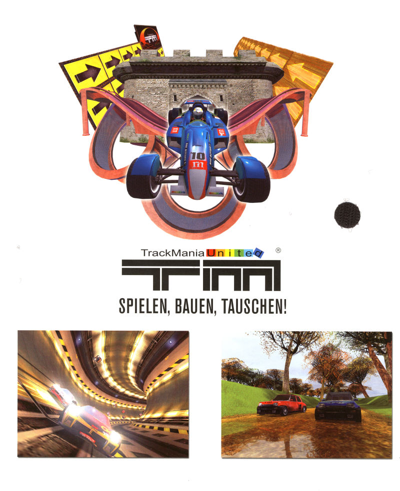 TrackMania United (Limited First Edition) Windows Inside Cover Right Flap