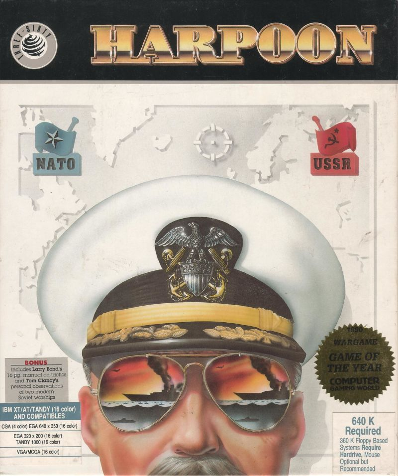 Harpoon DOS Front Cover
