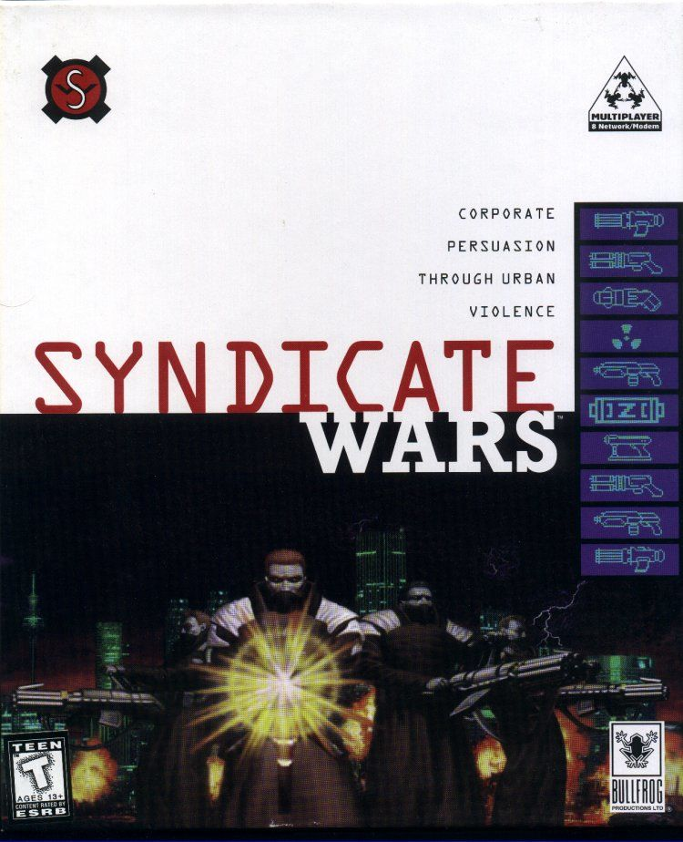 Syndicate Wars DOS Front Cover