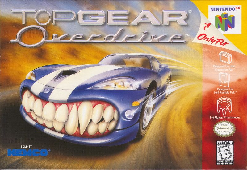 Top Gear Overdrive Nintendo 64 Front Cover