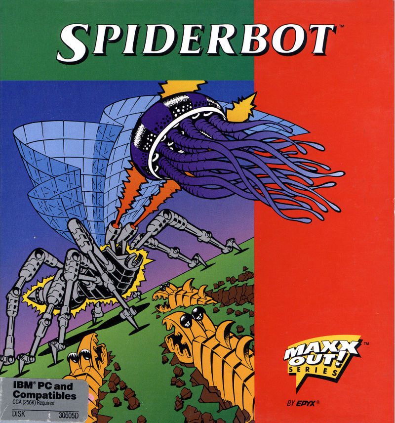Spiderbot PC Booter Front Cover