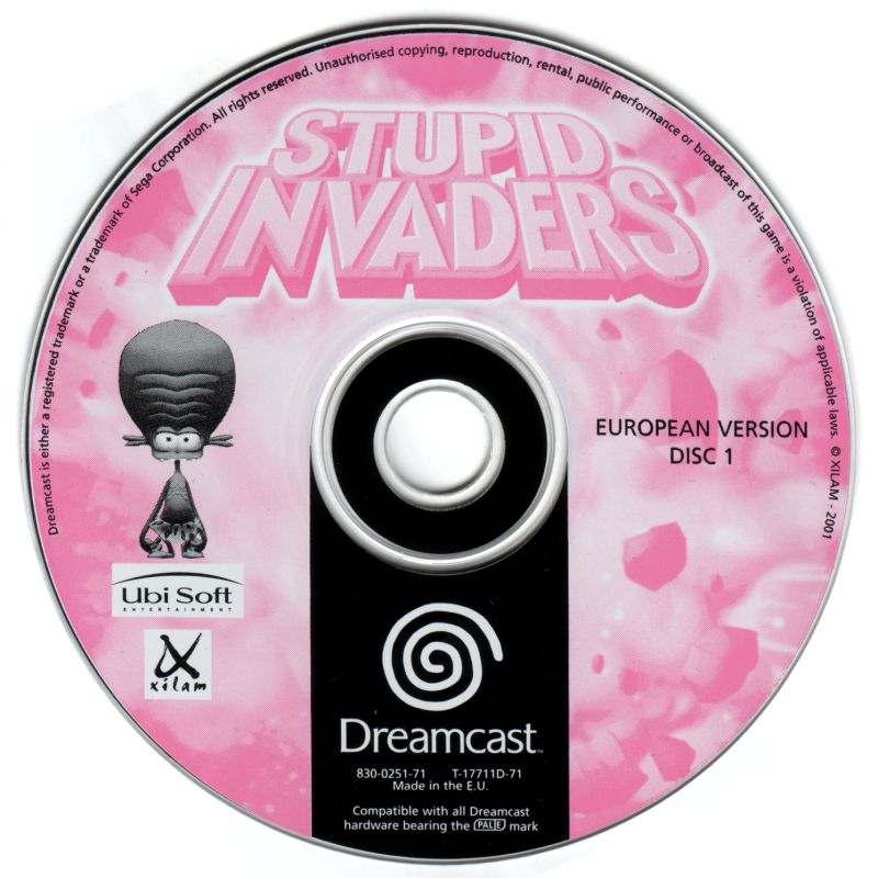 Stupid Invaders Dreamcast Media Disc 1/2