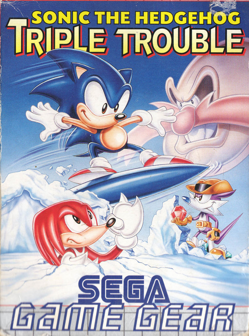 Sonic the Hedgehog: Triple Trouble Game Gear Front Cover