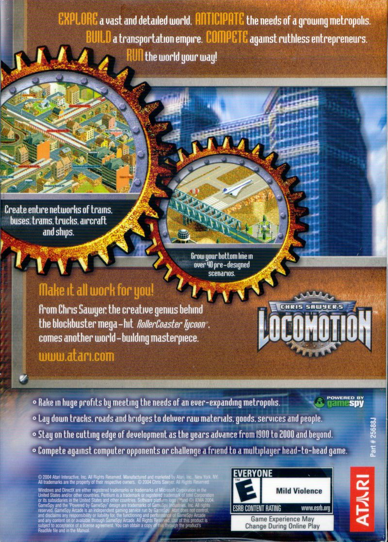 Chris Sawyer's Locomotion Windows Back Cover
