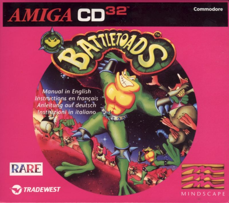 Battletoads Amiga CD32 Front Cover