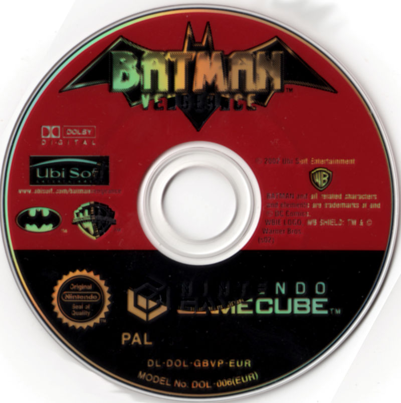 Batman: Vengeance GameCube Media