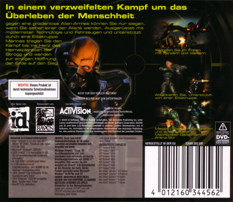 Quake 4 Windows Other Jewel Case - Back