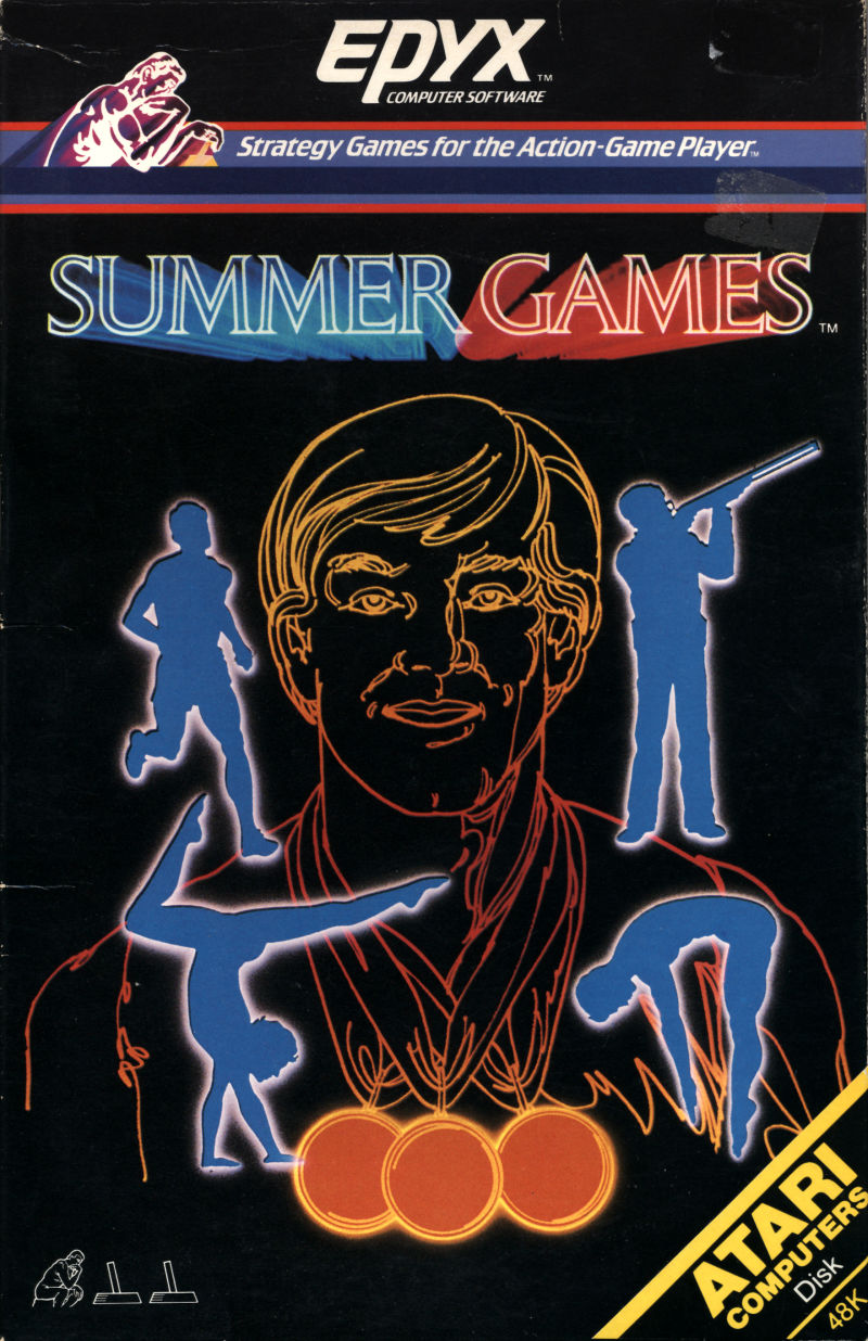 Summer Games Atari 8-bit Front Cover