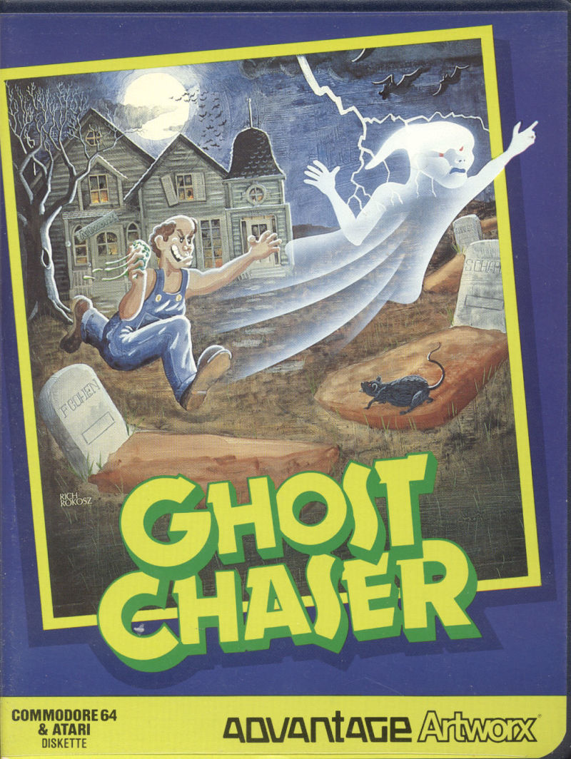 Ghost Chaser Atari 8-bit Front Cover