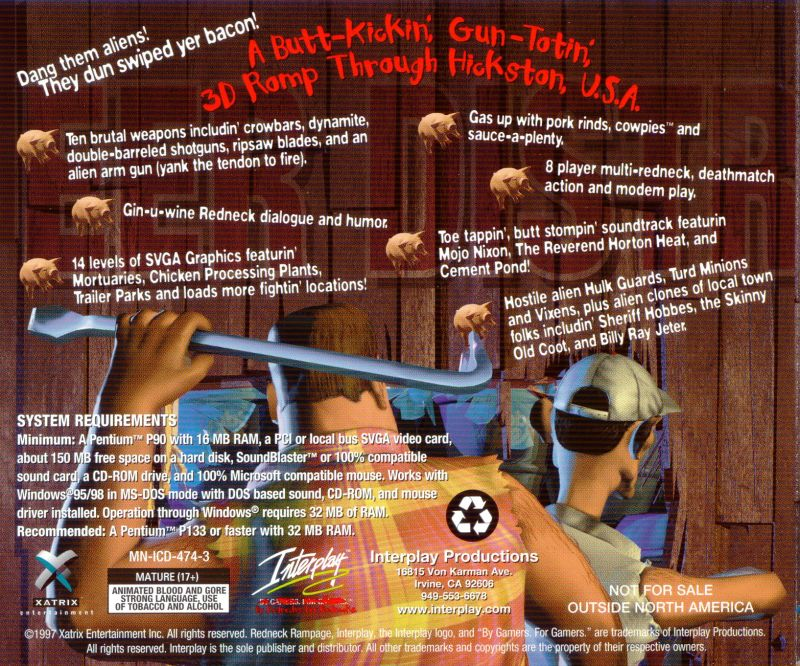Redneck Rampage DOS Other Jewel Case - Back