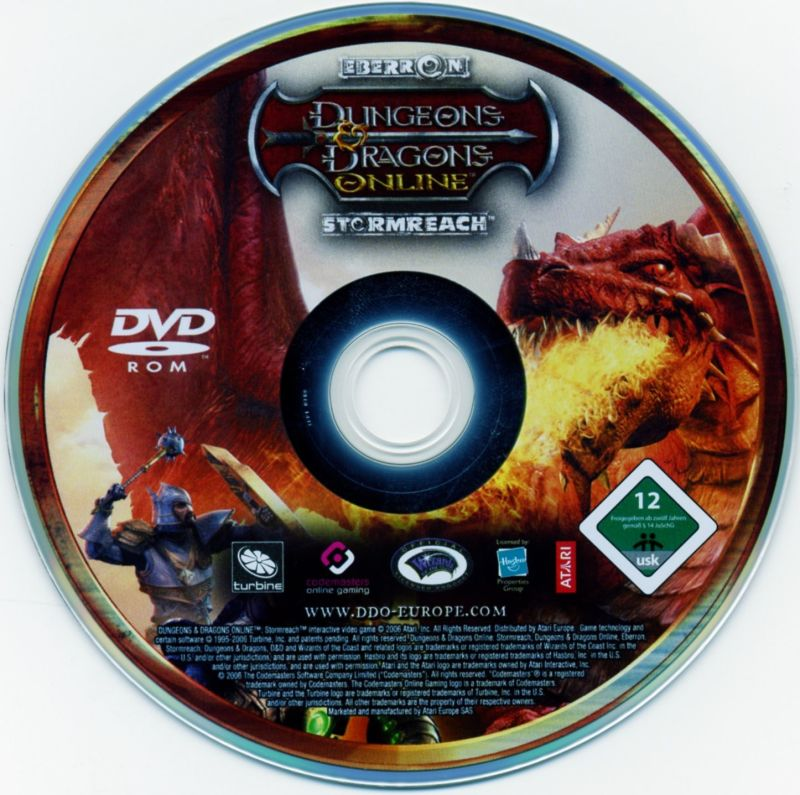 Dungeons & Dragons Online: Stormreach Windows Media Game disc