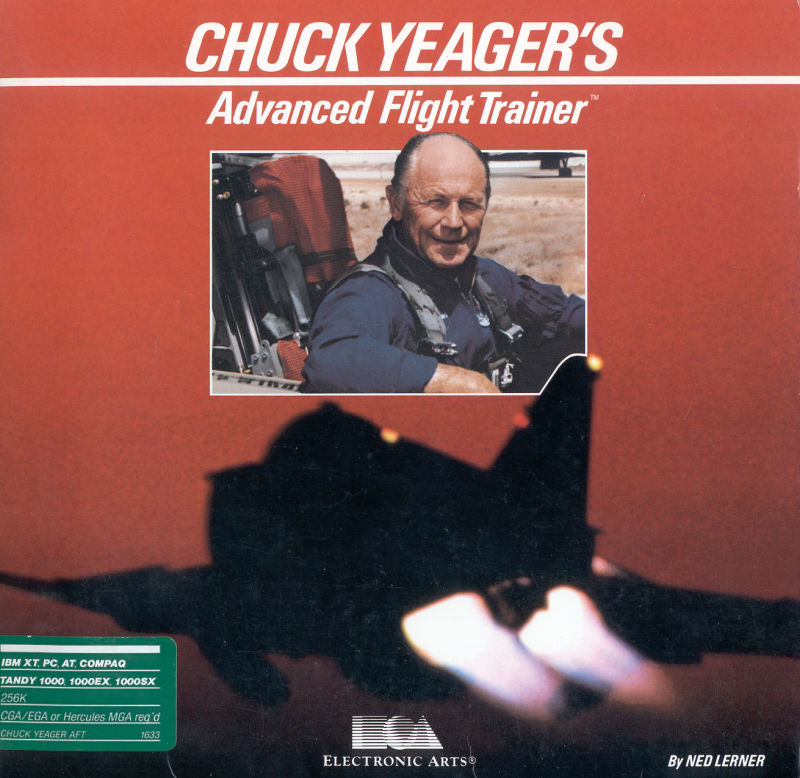 Chuck Yeager's Advanced Flight Simulator DOS Front Cover