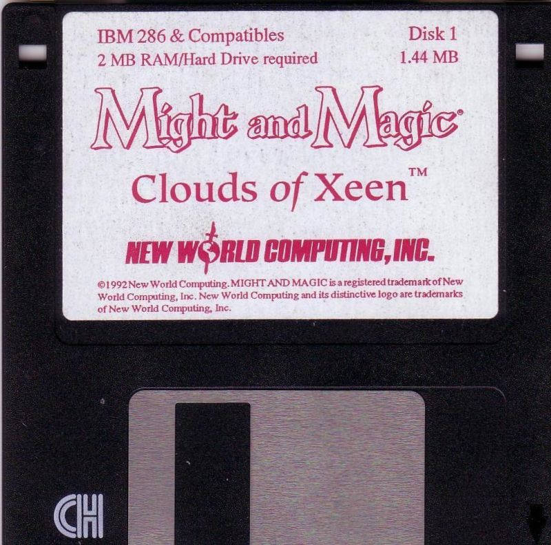 Might and Magic: Clouds of Xeen DOS Media Disk 1/6