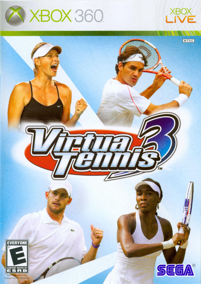 Virtua Tennis 3 Xbox 360 Front Cover