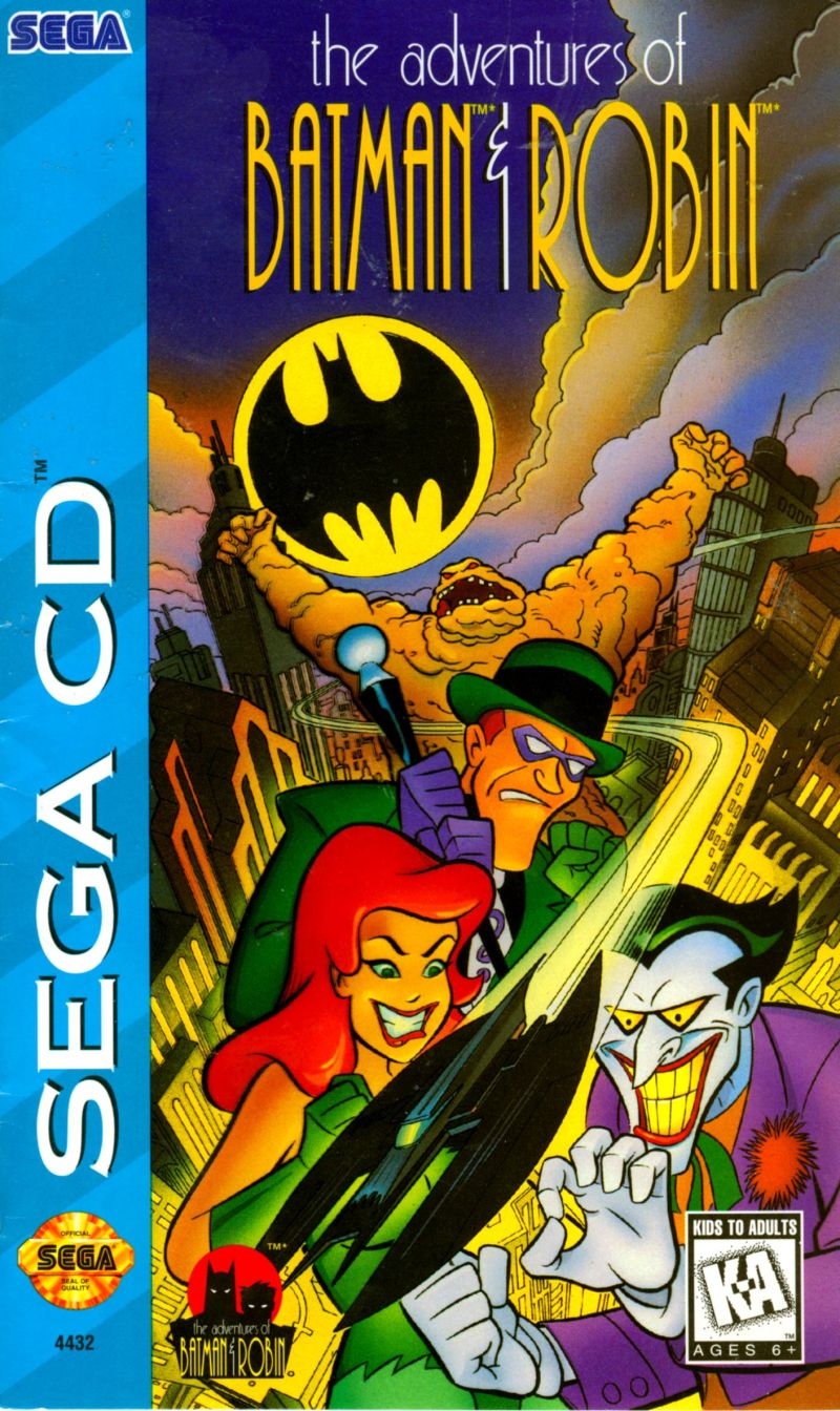 The Adventures Of Batman Amp Robin 1995 Sega Cd Box Cover