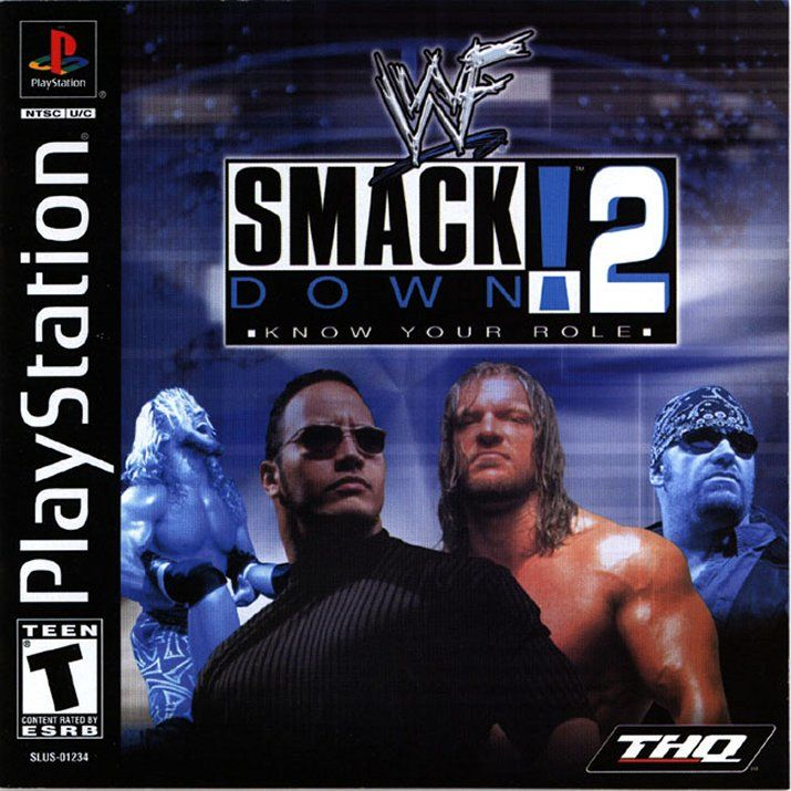 WWF Smackdown! 2: Know Your Role PlayStation Front Cover Also a manual