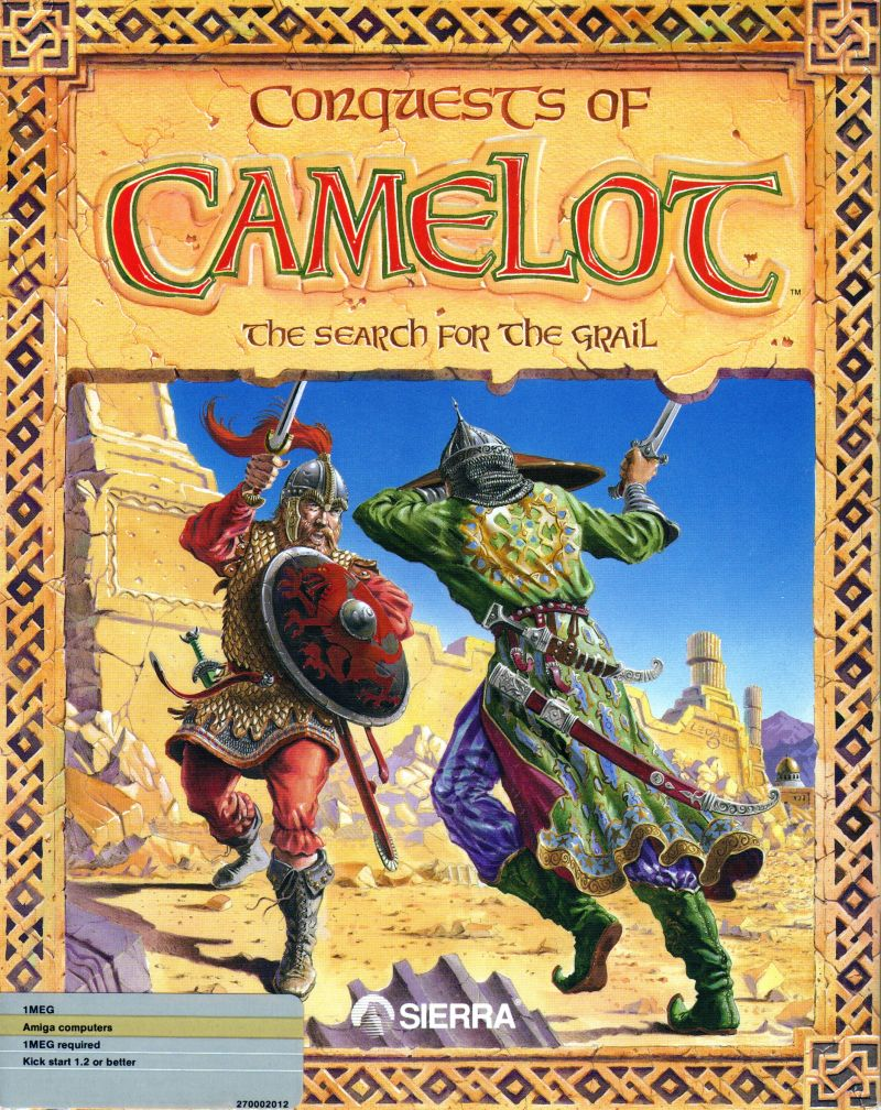 Conquests of Camelot: The Search for the Grail Amiga Front Cover