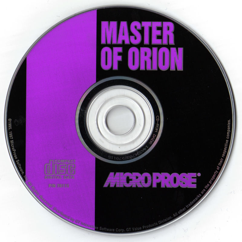 Master of Orion DOS Media