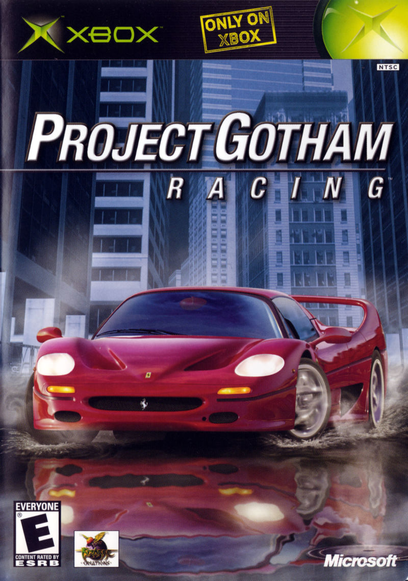 Project Gotham Racing Xbox Front Cover