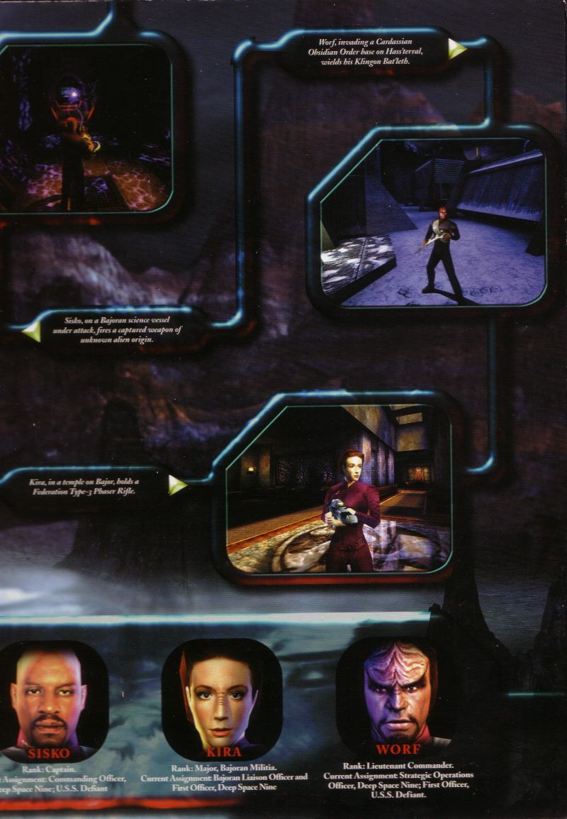 Star Trek: Deep Space Nine - The Fallen Windows Inside Cover Right Flap