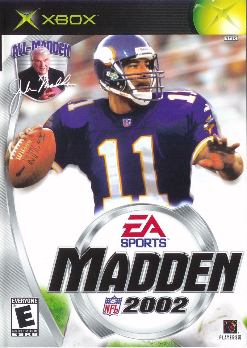 Madden NFL 2002 Xbox Front Cover