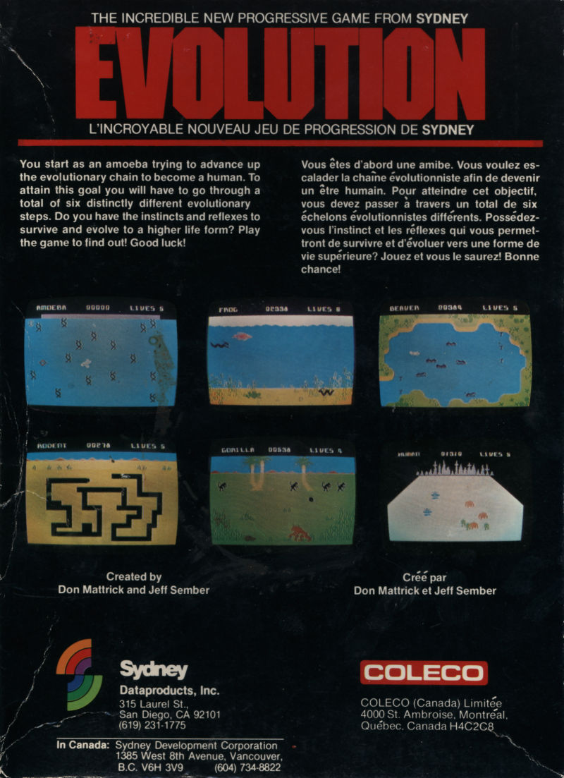 Evolution ColecoVision Back Cover