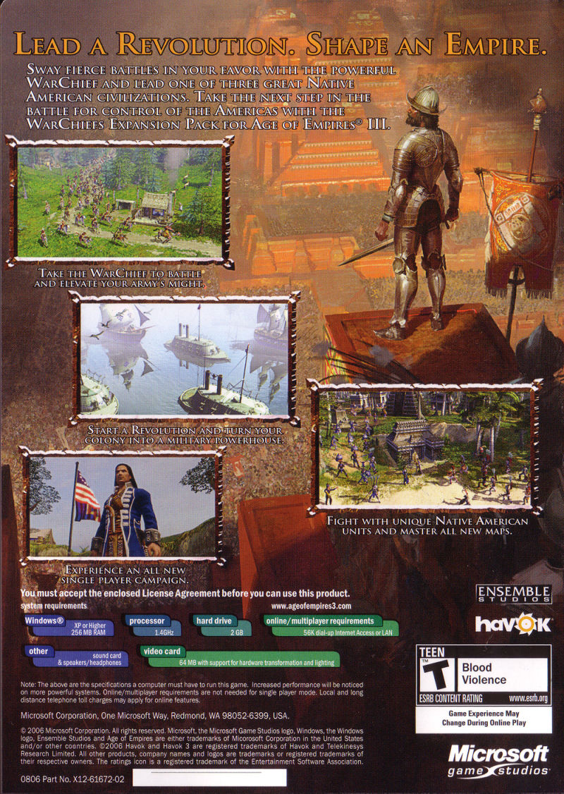 Age of Empires III: The WarChiefs Windows Other Keep Case - Back