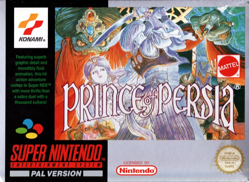 Prince of Persia SNES Front Cover