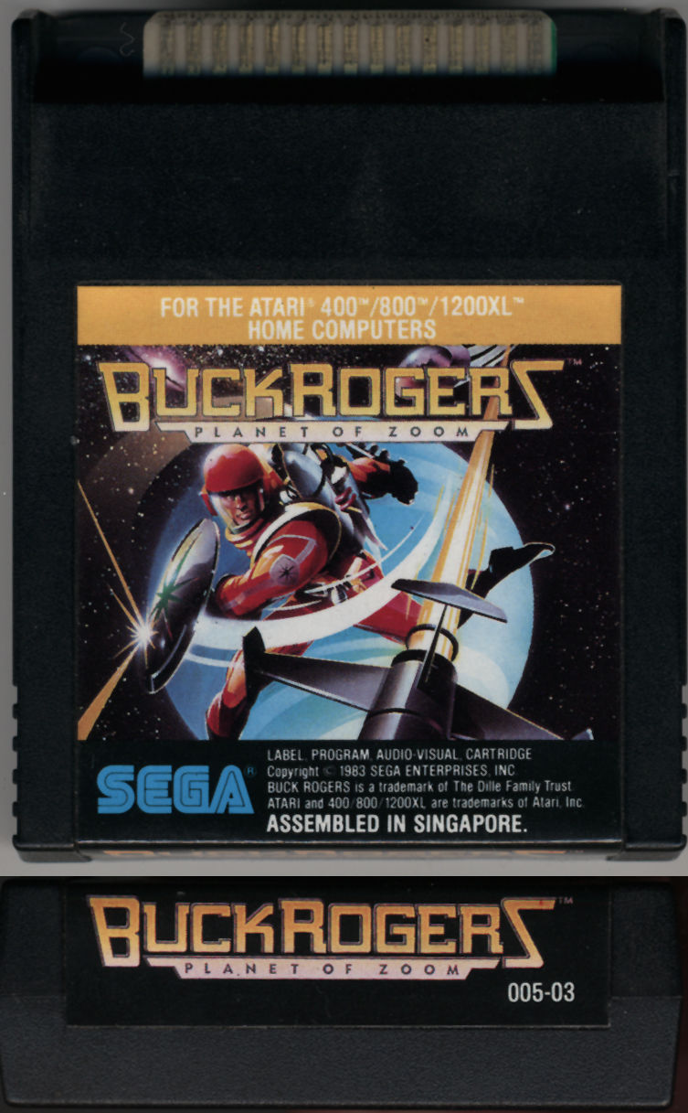 Buck Rogers: Planet of Zoom Atari 8-bit Media
