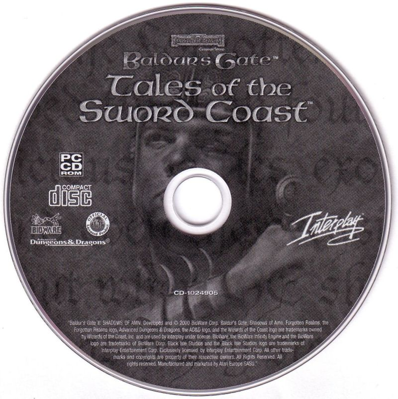 Baldur's Gate: 4 in 1 Boxset Windows Media Baldur's Gate Tales of the Sword Coast Disc