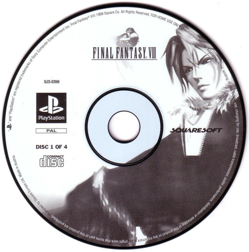 Final Fantasy VIII PlayStation Media Disc 1