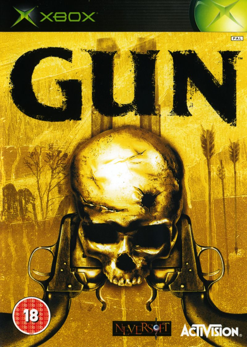 graphic about Printable Video Game Covers referred to as Gun (2005) Xbox box protect artwork - MobyGames