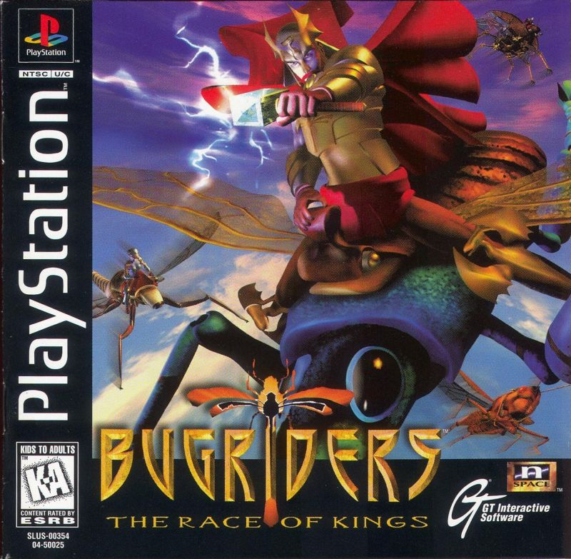 BugRiders: The Race of Kings PlayStation Front Cover