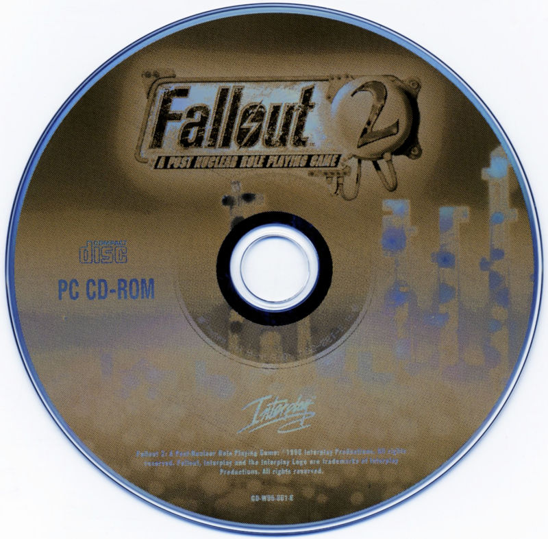 Planescape: Torment / Baldur's Gate / Fallout 2 Windows Media Fallout 2 - Disc