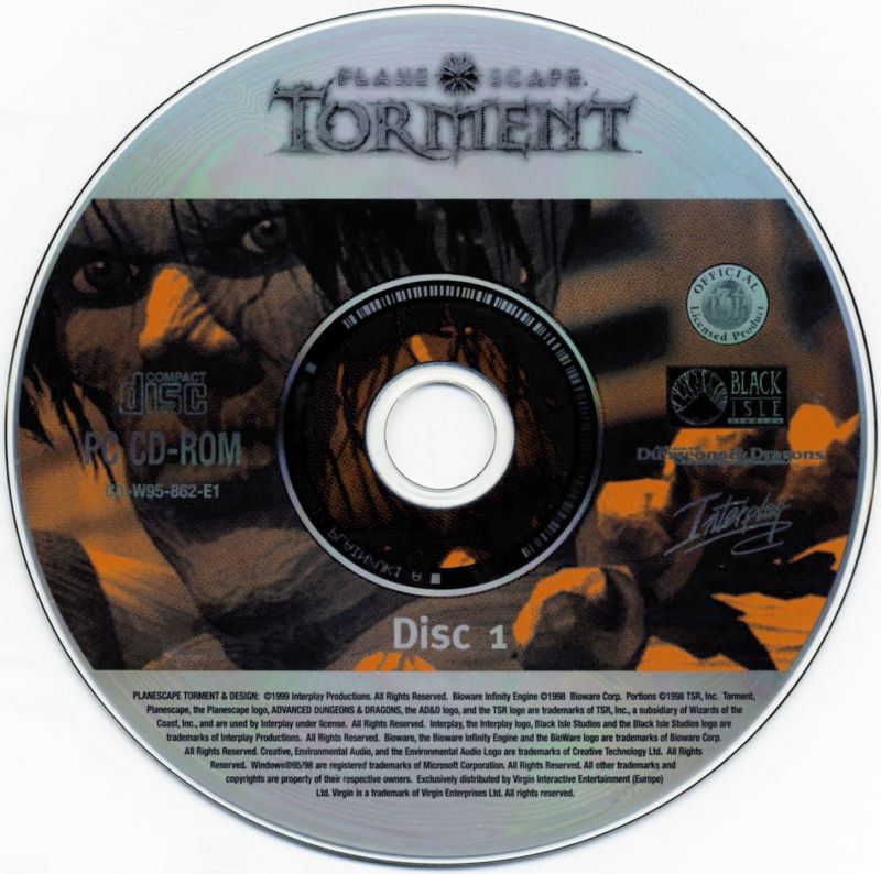 Planescape: Torment / Baldur's Gate / Fallout 2 Windows Media Planescape: Torment - Disc 1