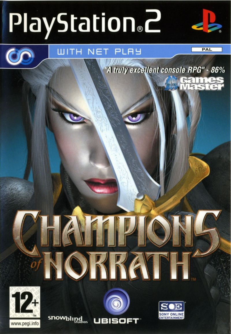 Champions of Norrath PlayStation 2 Front Cover